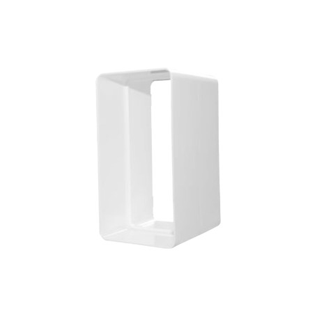 Empalme rectangular de plástico